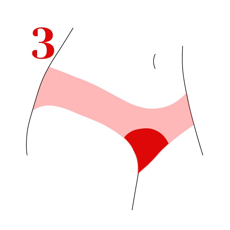 Usa preferentemente ropa interior de algodón para evitar que deslice